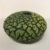 "Randy O'Brien: ""Lichen Vessel"", Yellow/Green, $350, 9"" Diameter x 5"" H"