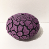 "Randy O'Brien: ""Urchin Vessel""; Light Purple/Dark Purple 4""H x 6"" Diameter"