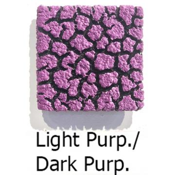 """Randy O'Brien 8 inch Square """"Lichen"""" Wall Tile: Light Purple/Dark Purple"""