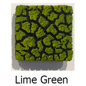 "Randy O'Brien 8 inch Square ""Lichen"" Wall Tile: Lime Green"