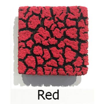 """Randy O'Brien 8 inch Square """"Lichen"""" Wall Tile: Red"""