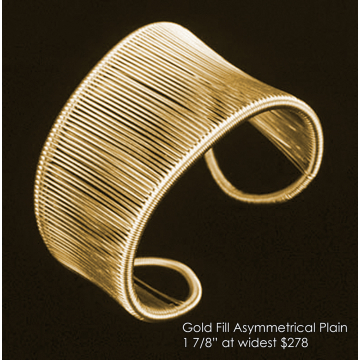 "Tana Acton, Gold Fill ""Asymmetrical Cuff"", $278, Fits a range of sizes"