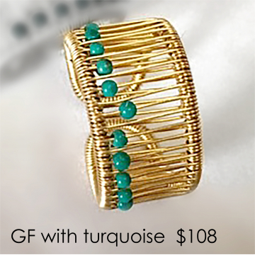 Tana Acton, Goldfill Ring with Turquoise, $108, Fits sizes 5 to 9. Please inquire about larger sizes