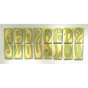 """""""Inside Outside"""", Nina Kellogg, set of 16 ceramic wall pieces, 142 1/2""""L x 26""""W x2""""D, Was $1600 now $1280"""