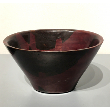 "Peter Petrochko, Wood vessel, 6"" x 8"" x 4 3/4""H, Purpleheart and wenge, was $325 now $227.50"