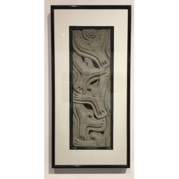 "Ralph Prata, ""As the Crow Flies"", Cast concrete wall piece, 12"" x 24"", was $320 now $224"