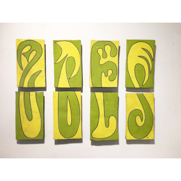 """""""Inside Outside"""", Nina Kellogg, set of 8 ceramic wall pieces, 70""""L x 26""""W x2""""D, Was $800 now $640"""