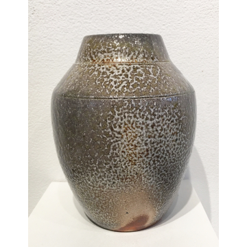"Kristin August, ""Vase"", Soda fired Ceramic, $80,6 3/4""H x  5 1/4"" Diameter"