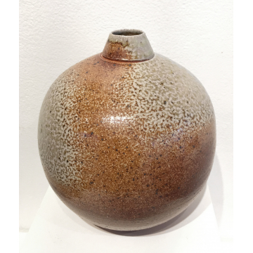 "Kristin August, ""Vase"", Soda fired Ceramic, $90, 7""H x  6 1/4"" Diameter"