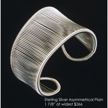 "Tana Acton, Sterling Silver ""Asymmetrical Cuff"", $266, Fits a range of sizes"