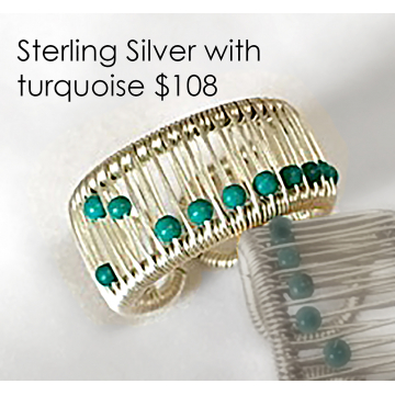 Tana Acton, Sterling Silver Ring with Turquoise, $108, Fits sizes 5 to 9. Please inquire about larger sizes