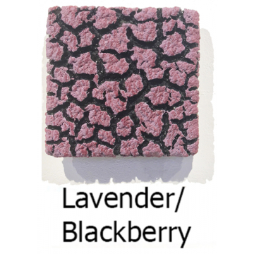 "Randy O'Brien 8 inch Square ""Lichen"" Wall Tile: Lavender/Blackberry"