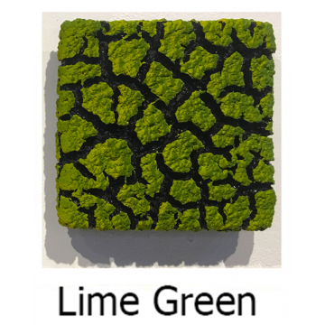 "Randy O'Brien 8 inch Square ""Lichen"" Wall Tile: Lime Green"