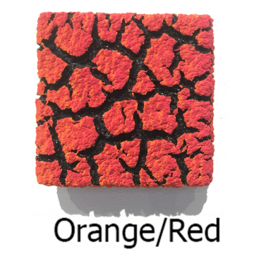 "Randy O'Brien 8 inch Square ""Lichen"" Wall Tile: Orange/Red"