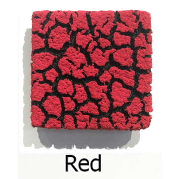 "Randy O'Brien 8 inch Square ""Lichen"" Wall Tile: Red"